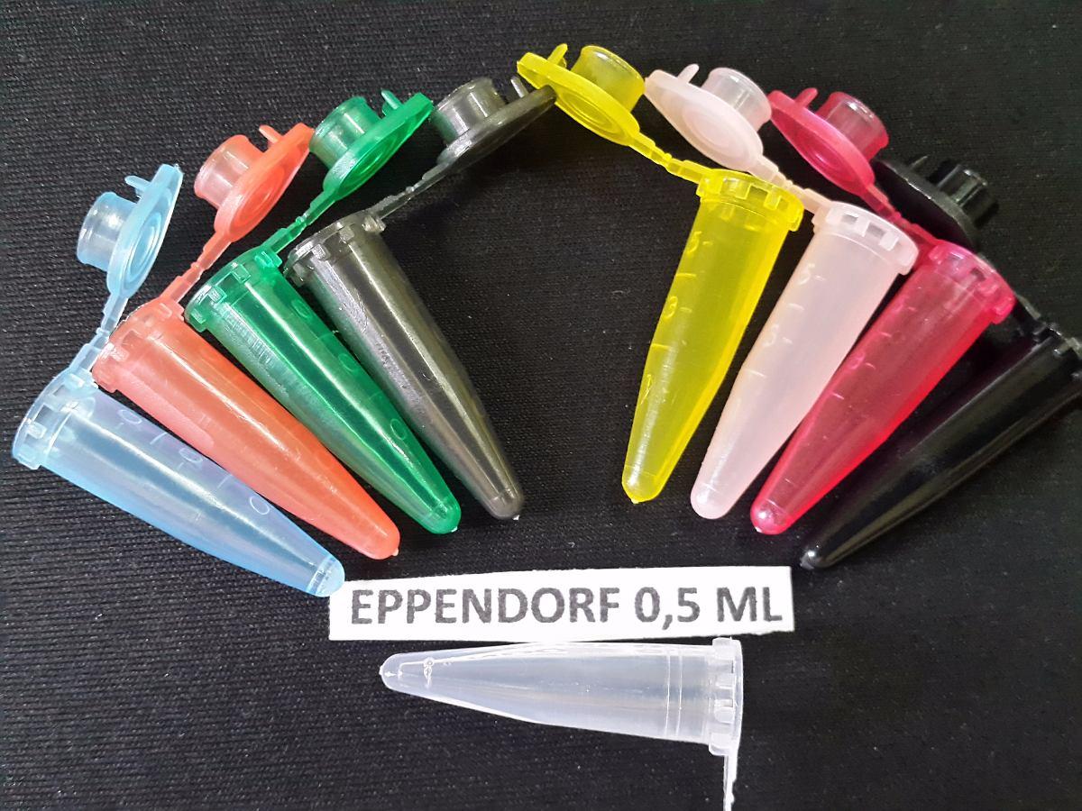 Microtubo Eppendorf  Capsula 0,5 Colorido 0,5ml (1-2-4)