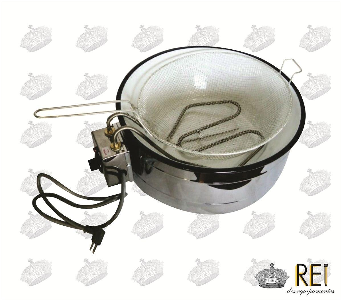 Fritadeira Elétrica 7 Litros Redonda C/ Termostato 110v