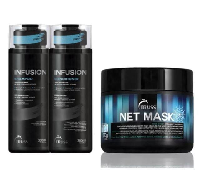 Truss Infusion Shampoo + Condicionador + Net Mask 550g