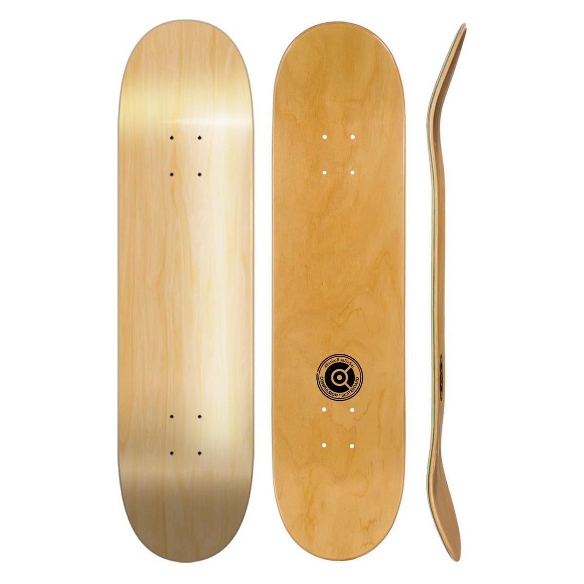 Shape Liso De Marfim Skate Street Muito Pop E Super Leve