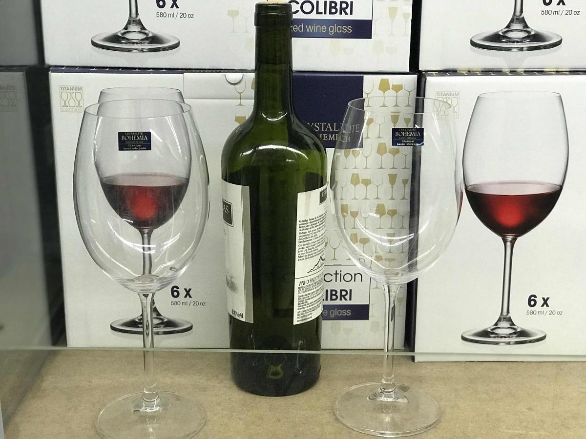 Jogo Com 6 Ta?as Cristal Vinho Tinto 580 Ml Bohemia Gatro