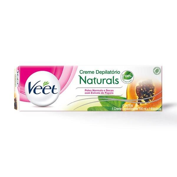 Creme Depilatório Corporal Veet Naturals Peles Normais E