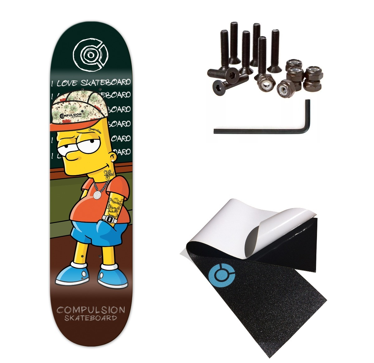 Shape Compulsionsb Skate Profissional +lixa +parafuso +frete