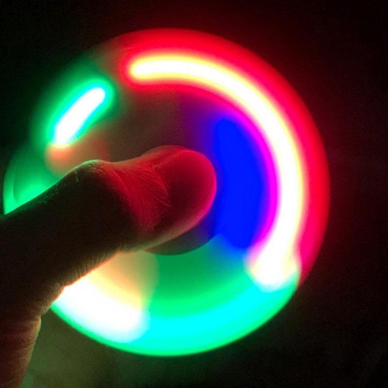 Fidget Hand Spinner Abec Anti Stress Com Led - Cor Sortida