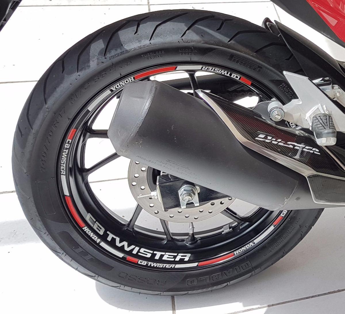Friso Adesivo Refletivo Para Roda Cb Twister N?o Desbota