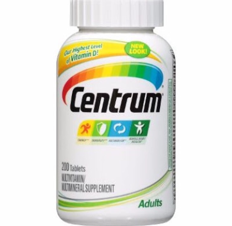 Multivitaminico Centrum Adulto Importado 200caps No Brasil