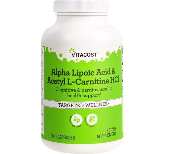 Alfa Lipóico + Acetil L Carnitina  Hcl 240 Caps Importado