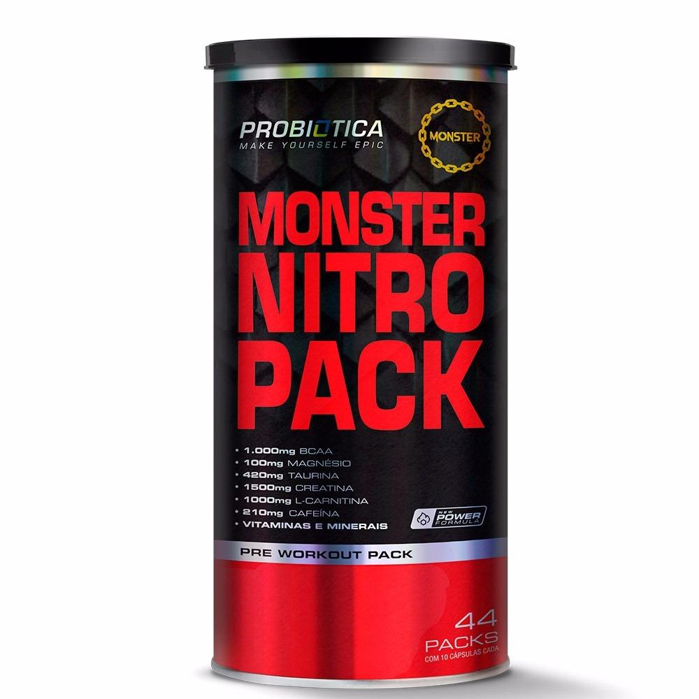 Monster Nitro Pack - 44 Packs -  Probiótica - Validade 2019