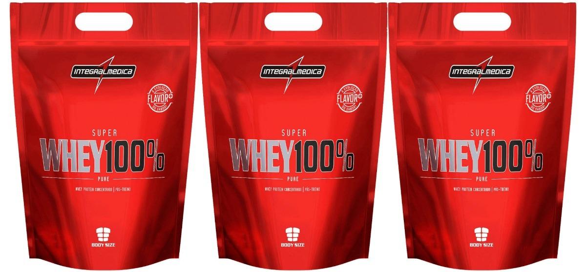 Super Whey 100% Pure 907g 3 Unidades Integral Medica