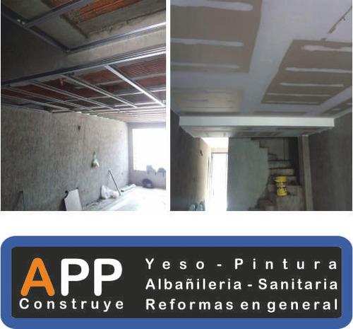 # empresa de pintura, # colocación de yeso & # construcción.