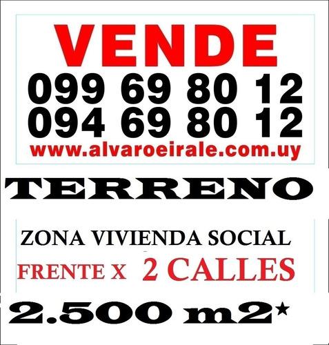 # terreno v. i. s. 2.500 m2* frente x 2 calles