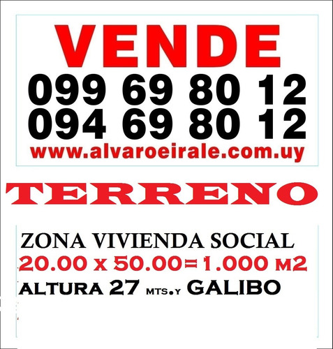 # terreno:20.00 x 50.00=1.000 m2* ideal parking ó edificio