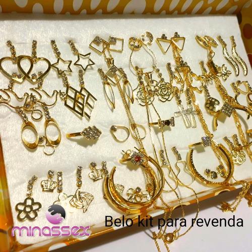 01 kit  c/40 peças folheados da minassex semi jóias