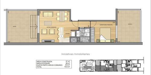 1 dormitorio con patios exclusivos !