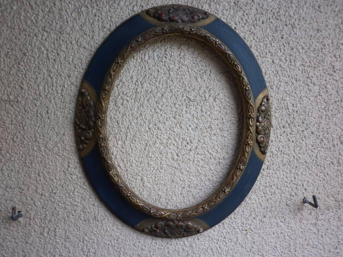 1 Marco Oval Antiguo Madera Y Yeso - $ 500,00 en Mercado Libre