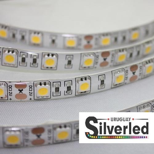 1 metro tira led 5050 60 led/m p/exterior autoadhesiva cinta