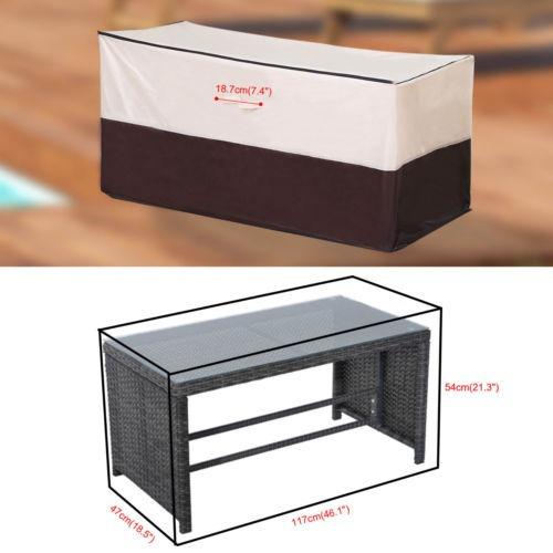 1 Par Chaise Lounge Silla Cojín Muebles Lluvia Cubrir Patio ...