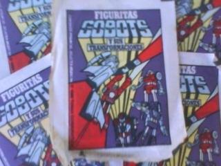 1 sobre cerrado defiguritas album los gobots años 80