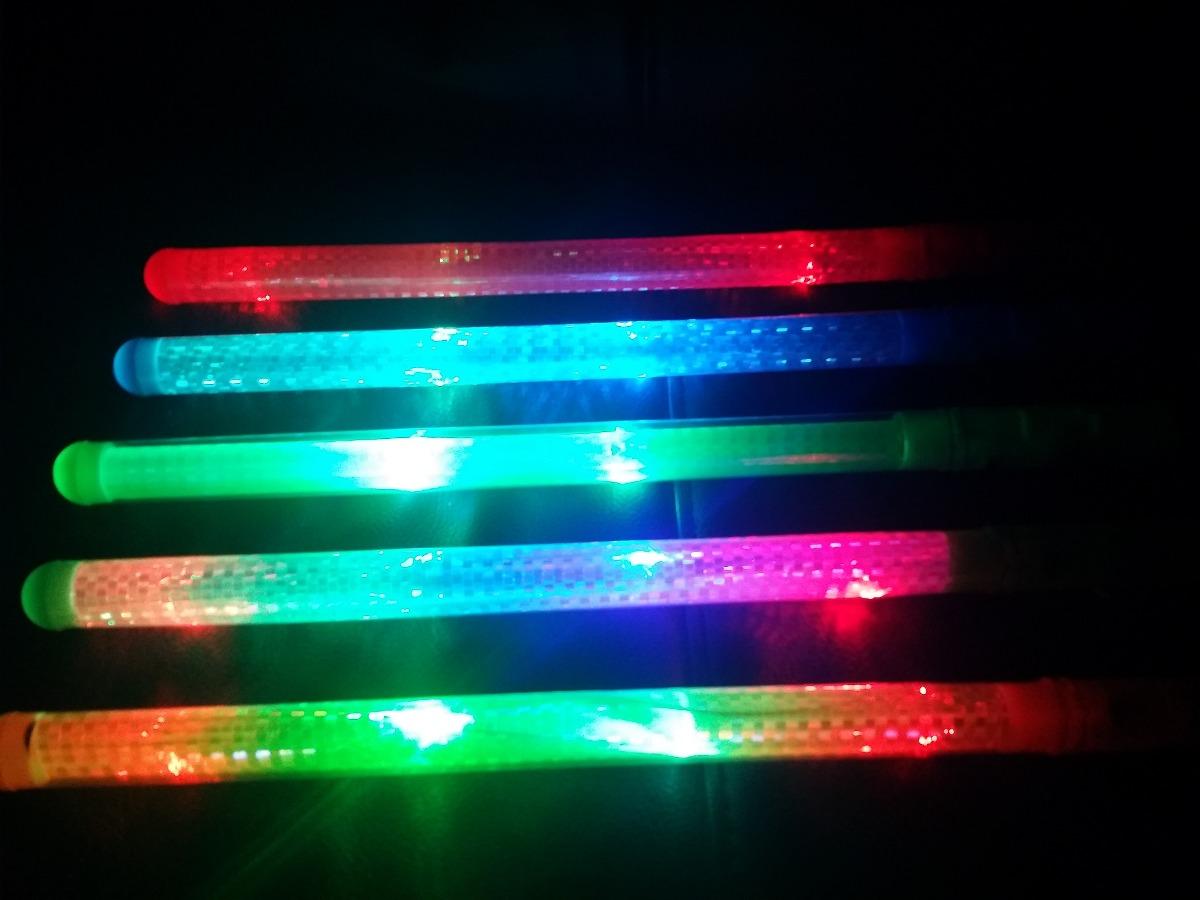 10 Baston Luminoso Espada Con Luz Led Colores Fiesta Mexico