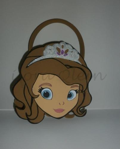 10 bolsitas golosineras princesas sofia, rapunzel, violetta