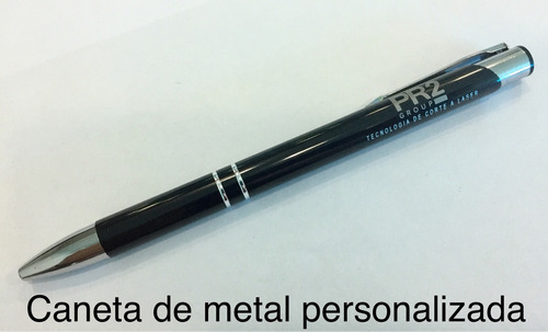 10 canetas metal  personalização individual - gravação laser