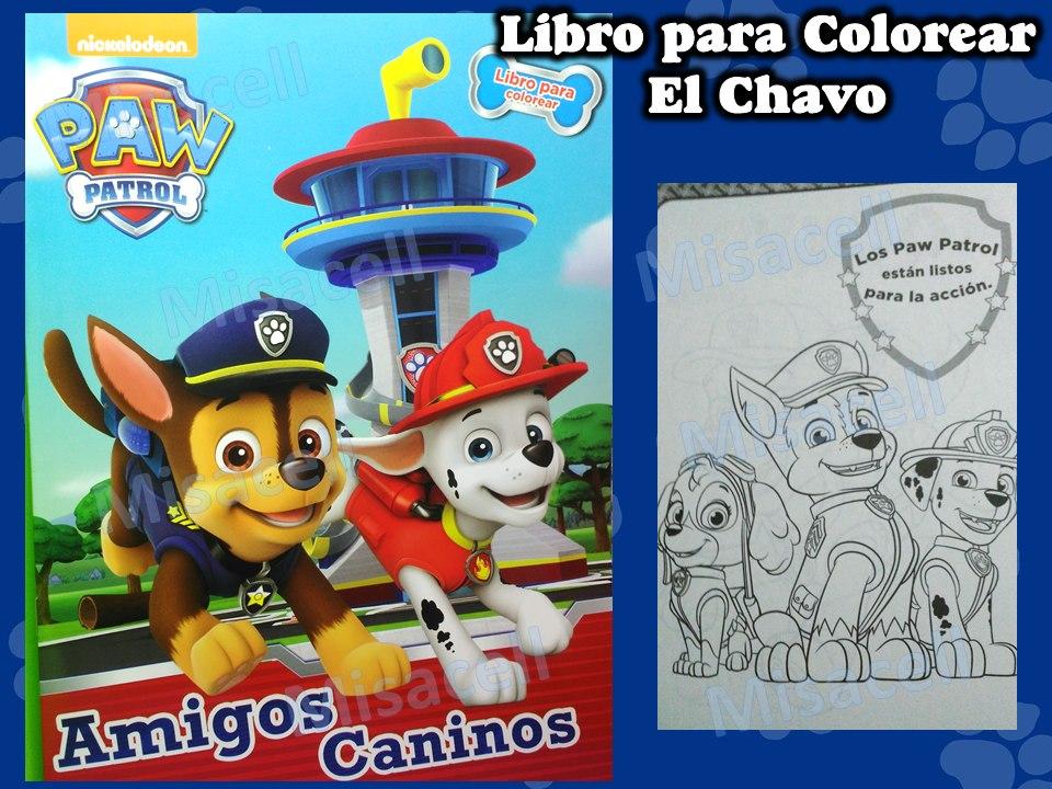 10 Libro Colorear Paw Patrol Recuerdos De Fiesta :) - $ 70.00 en ...