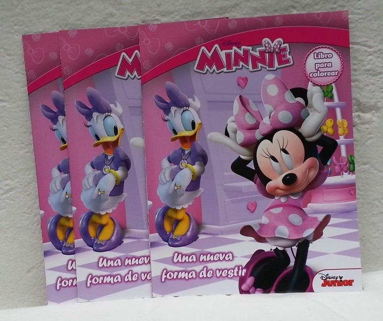 10 Libros Para Colorear 16 Pag Minnie Mouse Premio Fiestas - $ 70.00 ...