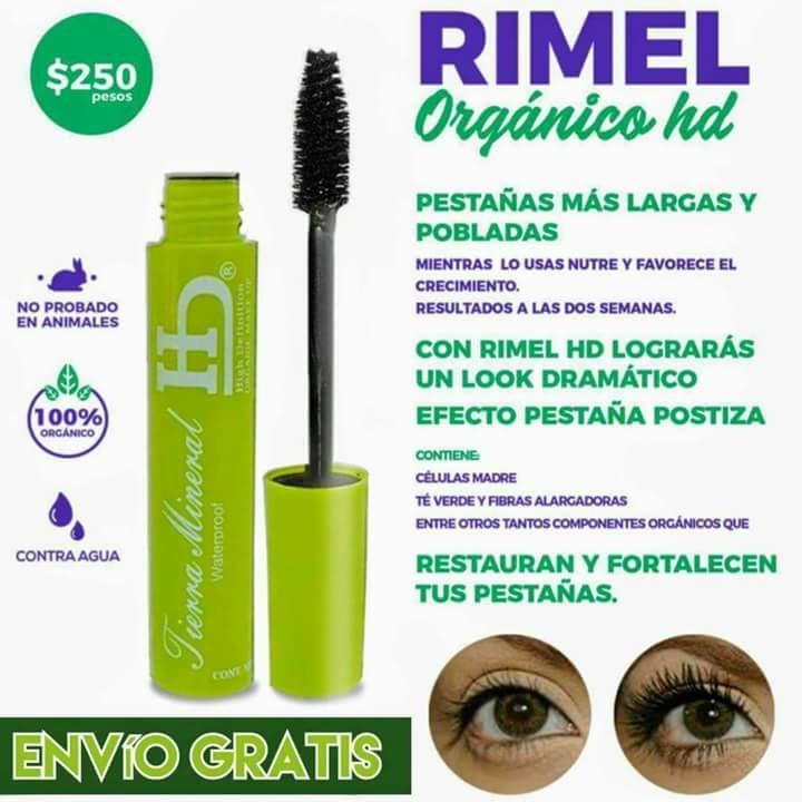 10 Pz.. Rímel Tierra Mineral Hd - $ 1,300.00 en Mercado Libre