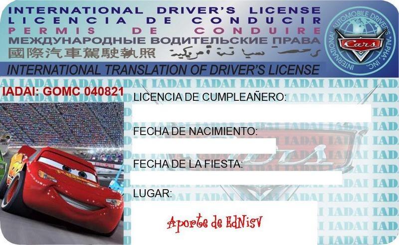 10 Tarjetas De Cumpleaños Cars Invitaciones