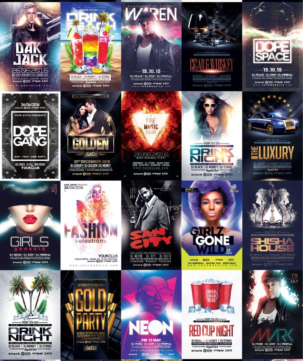 100 Folletos, Posters- Plantillas - Psd Photoshop - $ 50.00 en ...