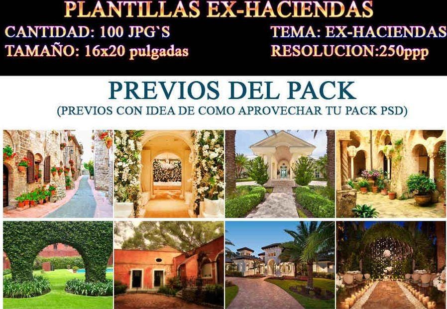 100 Fondos Ex-haciendas-antiguo-callejones 16x20 250p - $ 100.00 en ...