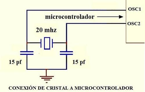 100 pzs cristal cuarzo oscilador 20 mhz