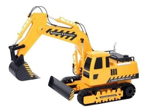 1:18 Camión de juguete de excavadora con control remoto con sonidos de