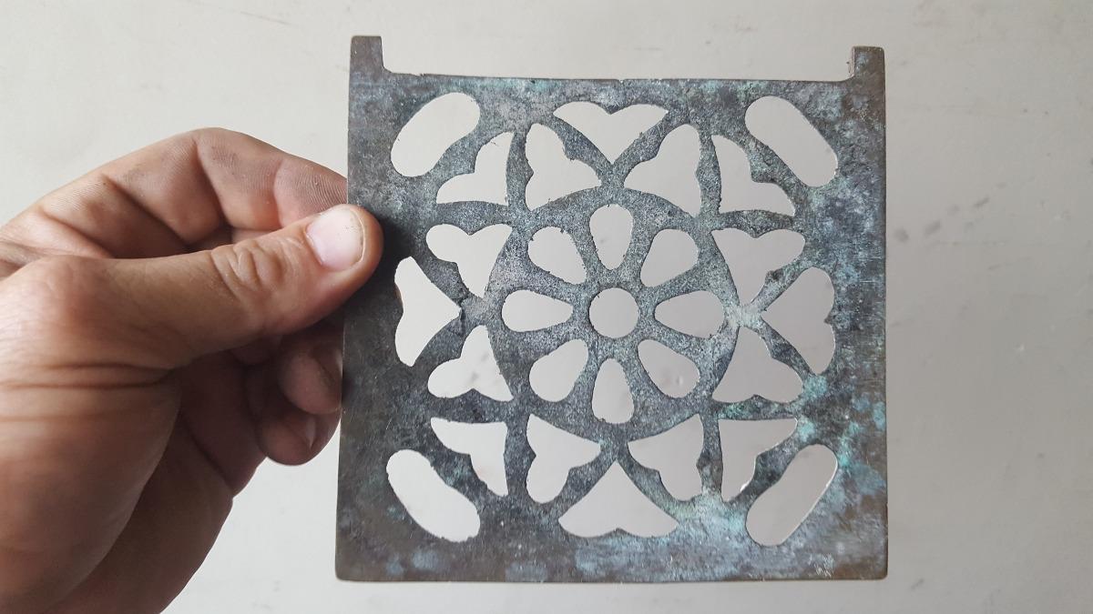 1/2-antigua Rejilla Cuadrada De Bronce Sin Marco 13 X 13,1 - $ 300 ...