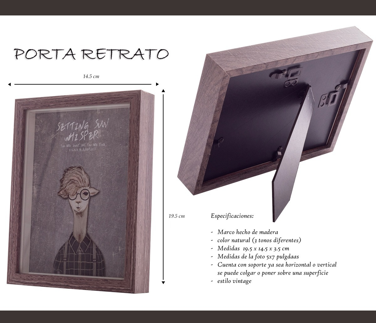 12 Juegos De 4 Portaretratos De Madera M002 Hogar Regalo ...