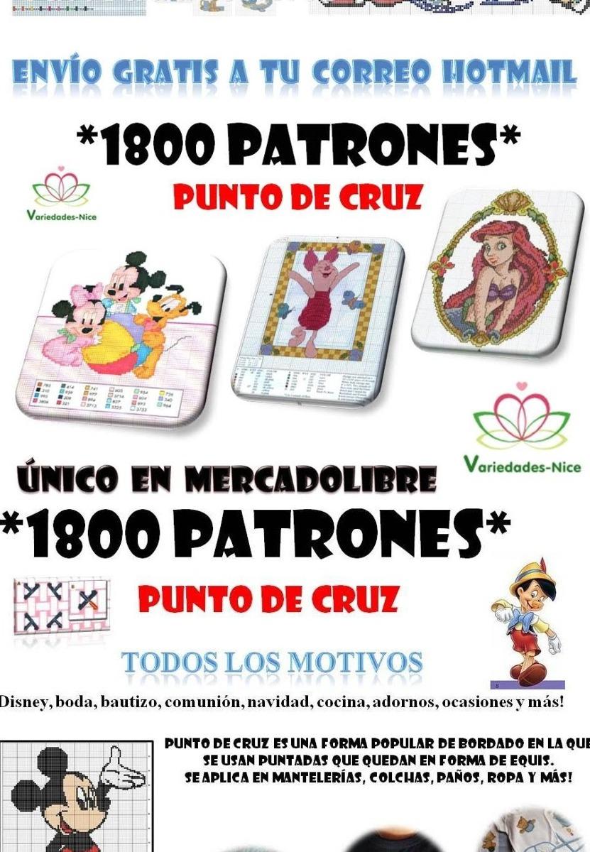 1800 Patrones Punto De Cruz, Con Variados Motivos - $ 150,00 en ...