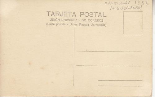 1933 rocha fotografia postal en quebrada de los higuerones
