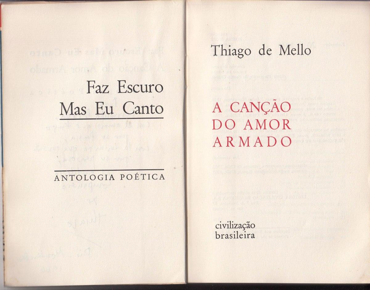 1966 Poesia Brasil Thiago De Mello Dedicado Amor Armado Raro
