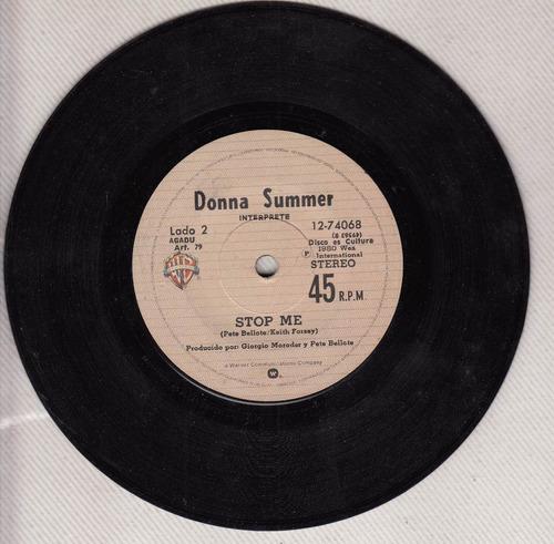 1980 donna summer giorgio moroder uruguay single vinyl ps