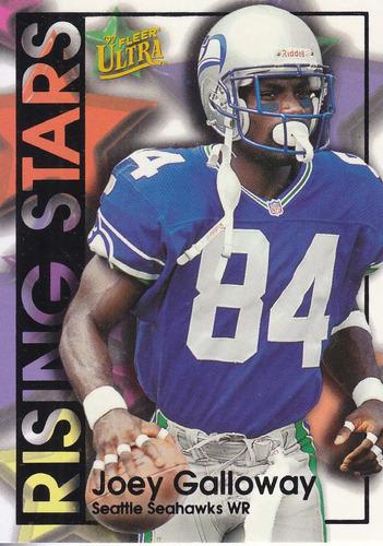 1997 fleer ultra rising stars joey galloway wr seahawks