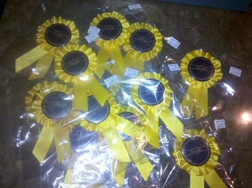 1er; 2do; 3er premios medallas prendedores cucardas castelar