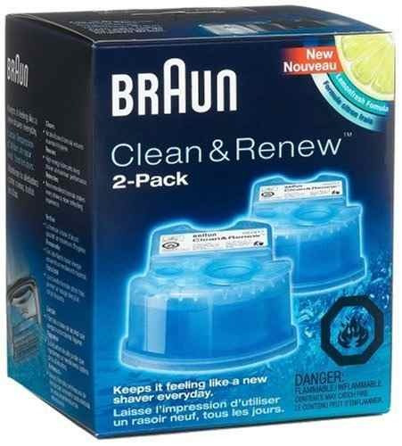 2 cartuchos liquido limpiador ccr2 para braun series 3, 5, 7