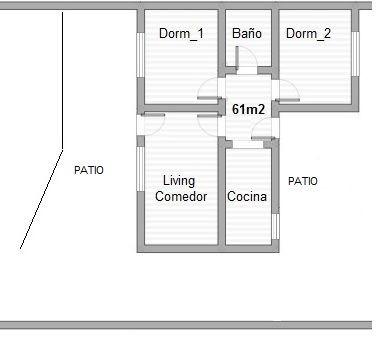 2 dorm - 2 patios - recién actualizada!!!