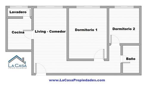 2 dormitorios en ciudad vieja - piso alto!