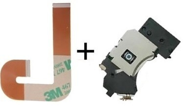 2 kit leitor óptico lente+cabo flat j playstation 2 slim ps2