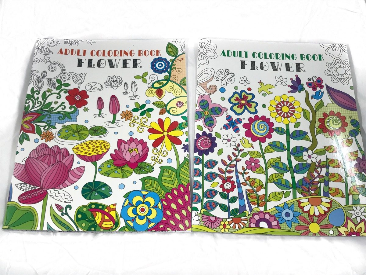 2 Libros Para Colorear Para Adultos Con Hojas Desprendibles ...