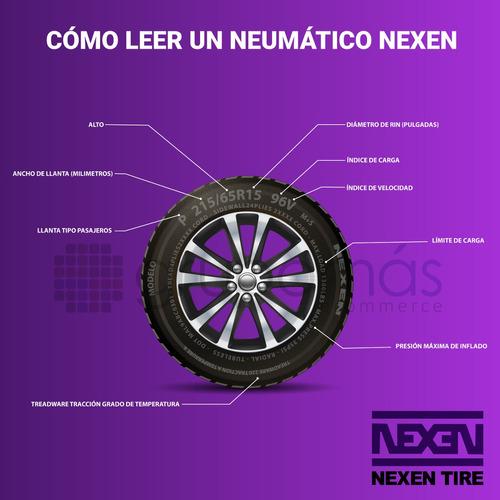 2 llantas 185/60 r14 nexen 82h nex222 cp661 radial