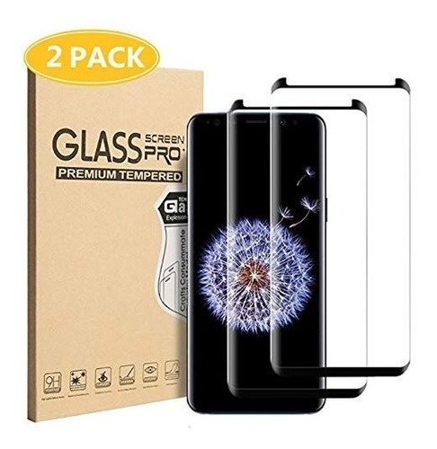 [2 pack] yunglass galaxy s9 plus screen protectorfull cove