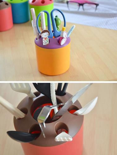2 pcs multifuncion color creativo envase pluma cepillo