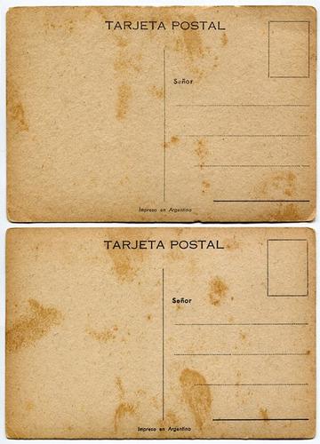 2 postales ilustradas argentinas cebando mate gauchesca